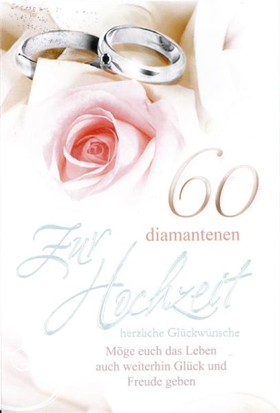 Faltkarte Zur Diamantenen Hochzeit Möge Euch Das Leben